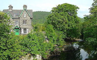 Bryn Afon Guest House from Pont-y-Pair (Bridge of the Cauldron circa 1468)