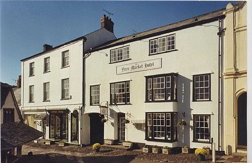 Yarn Market Hotel situated in the cobbled street of Dunster