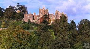 Dunster Castle looking protectively down on the village