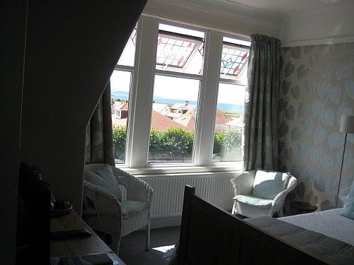 Bay room double en-suite with sea views.