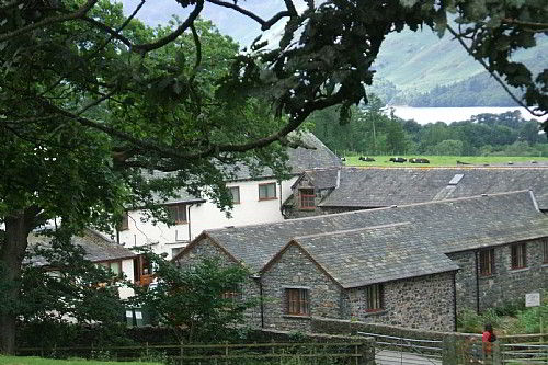 Springs Farm Guesthouse and Cottages with Derwentwater in the background