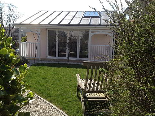 Our newly built light and airy cliff top Garden Studio room