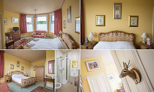 Dartmoor View bedroom.  This room has a futon which opens up as an additional double for families