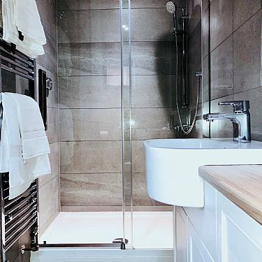 Luxury Bathroom With Double Shower